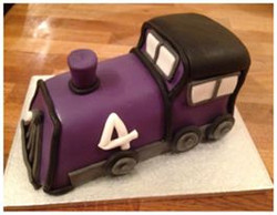 Purple Steam Train Cake