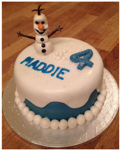 Frozen Ulaf Birthday Cake
