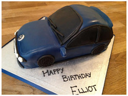VW car birthday cake