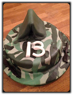 Camouflage Birthday Cake