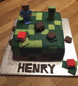 Roblox themed cake