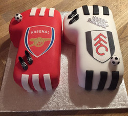 Number 11 Football Cake