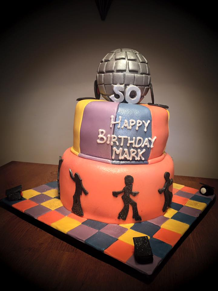 Disco Ball 80's Themed Birthday Cake