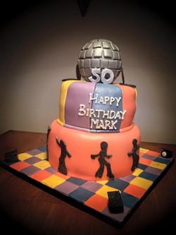 Disco Ball 80's Themed Birthday Cake