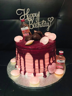 Drip Birthday themed cake