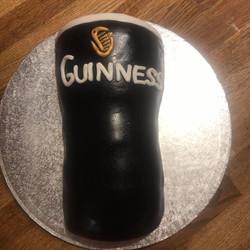 Guiness Glass Cake