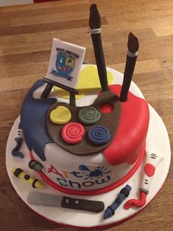 Art Show Themed Cake