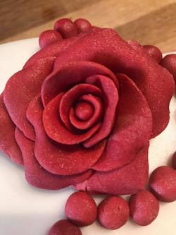 Fondant Red Roses