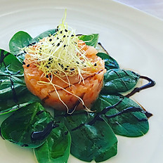 Orange flavoured Prawns tartare