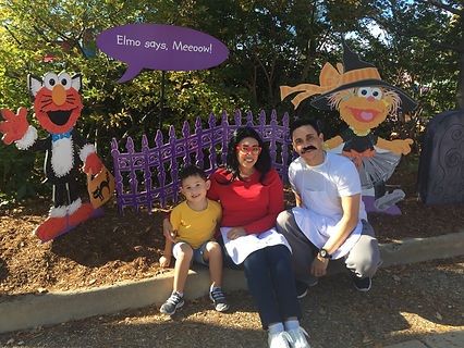 The family at Sesame Place