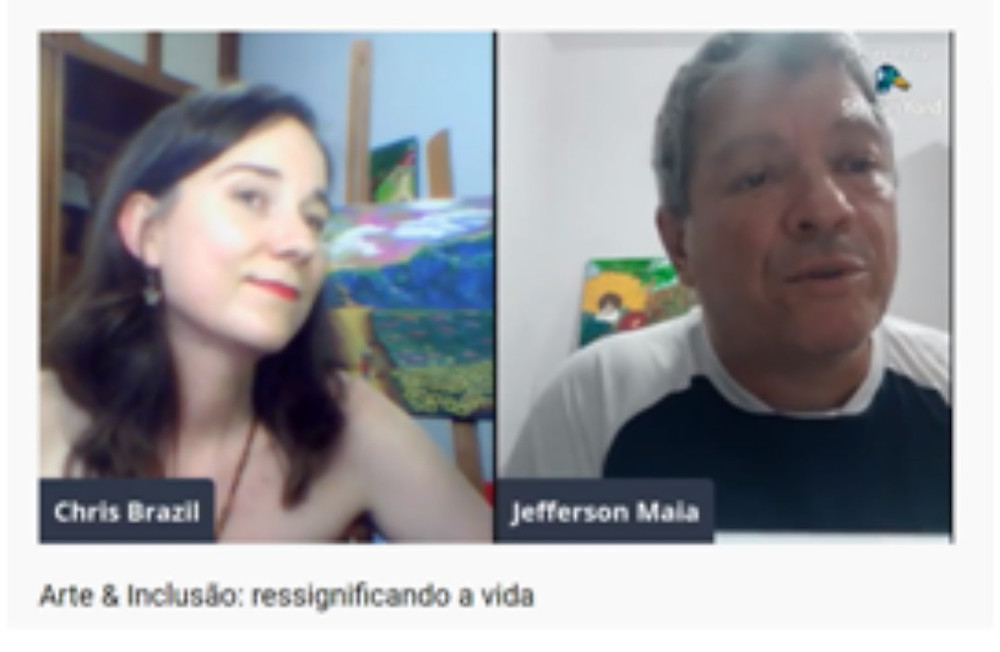 Imagem do YouTube, Chris Brazil à esquerda e Jefferson Maia à direita.