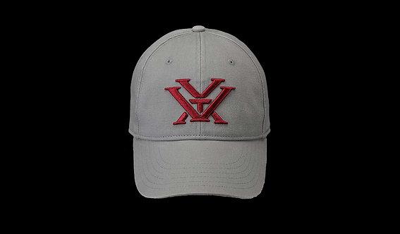 Ladies Grey Maroon Hat