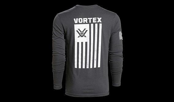 Grey Patriot Long Sleeve Shirt