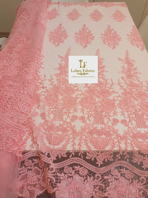 Cheras baby pink luxury lace