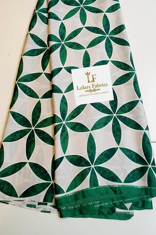 Nicki Lush Green Italian silk