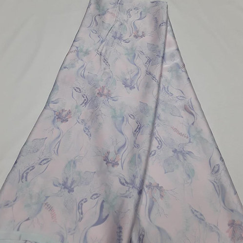 Ralia Pastel Blue Italian Silk Fabric