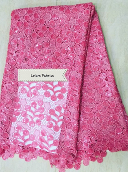 Forever Pink Sequinned Cord Lace