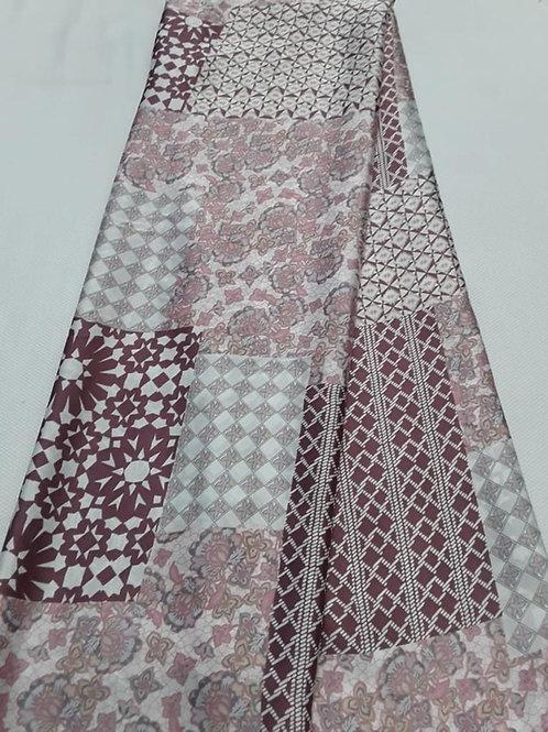 Anna Pink Mix Italian Silk Fabric
