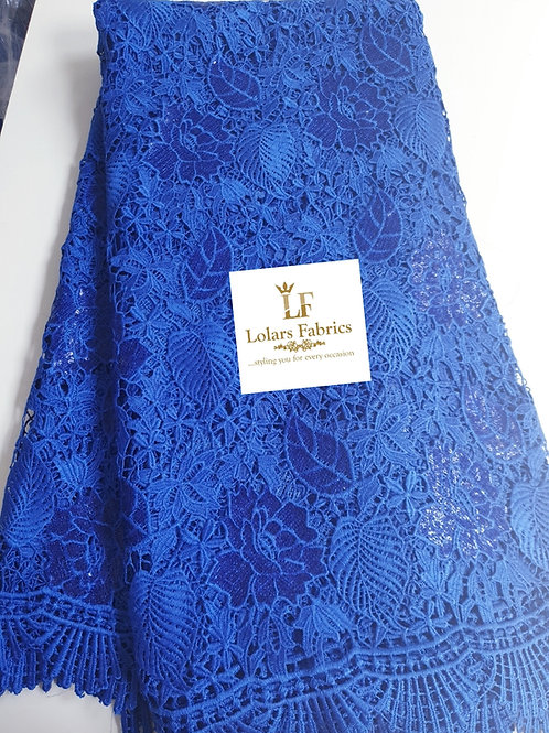 Blue Glorious Sequinned Guipure Lace