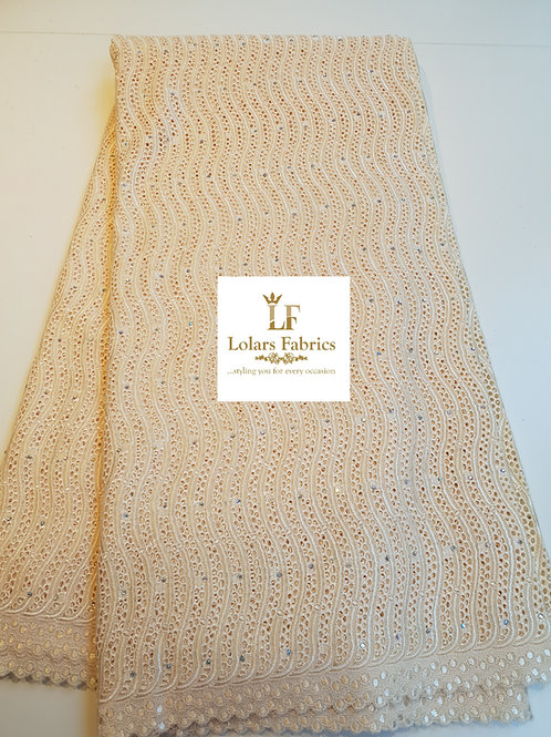 Beige Stone Voile Lace
