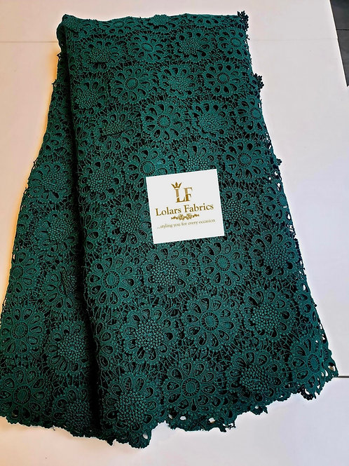 Lashe Green 3d Guipure lace