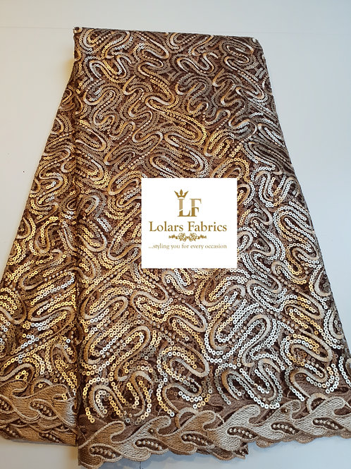 Gold Twirl Net Lace
