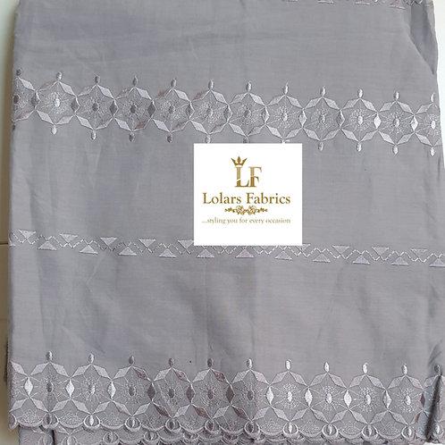 Akanbi Grey Swiss Men's Cotton Fabric