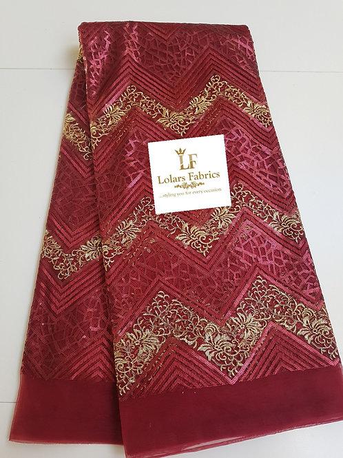 Burgundy Lynne Tulle Fabric