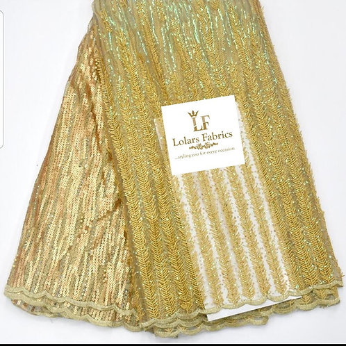 Bonnie Gold sequinned lace