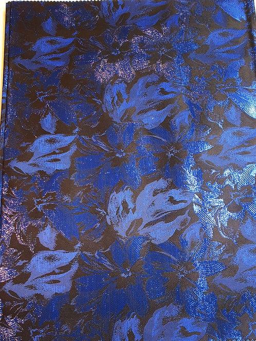 Ola Bright Royal blue & Black Sego gele