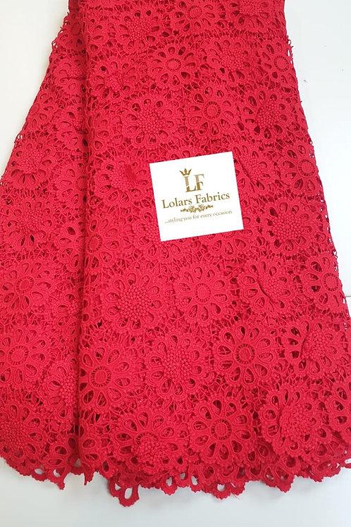 Bosco delightful Red 3D soft cord lace