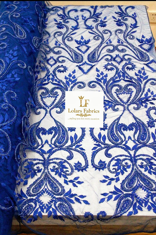 Royal Blue Lush Bridal Lace