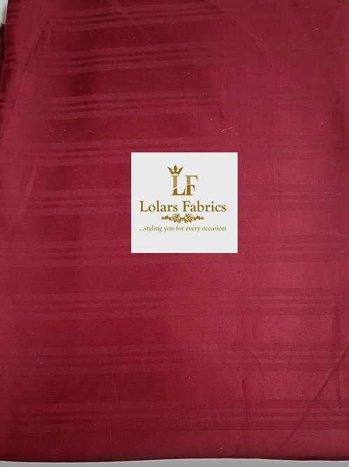 Sam's Burgundy Men's Fabric