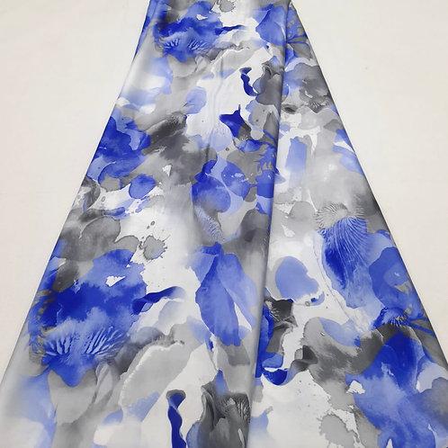 Hydrangea Italian silk fabric