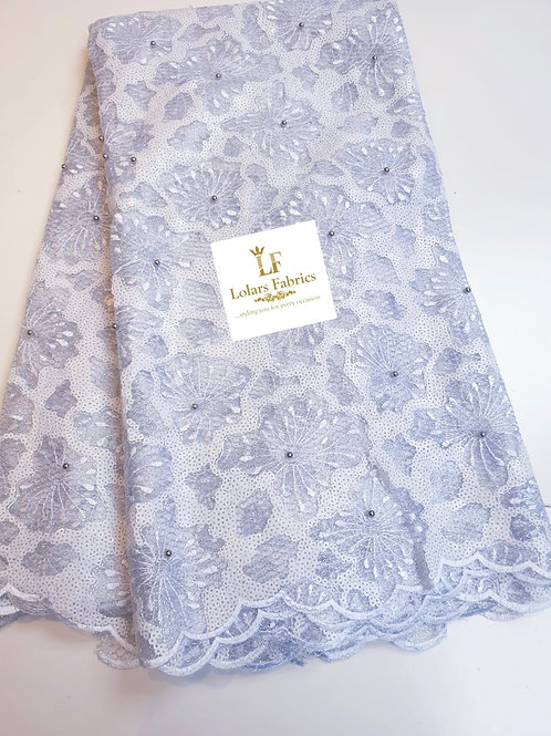 Omorade white sequinned lace