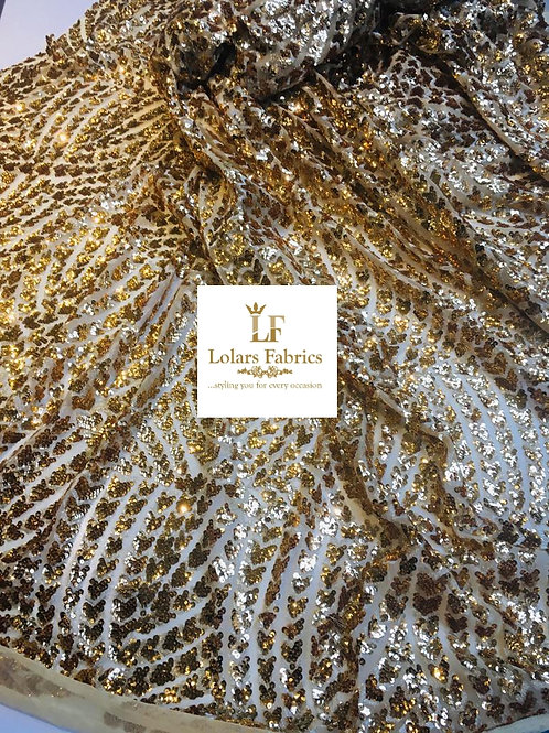 Glitter Dream Gold sequinned lace