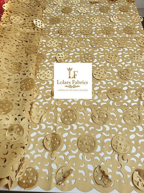 Grand Golden 3d Laser Cut Lace