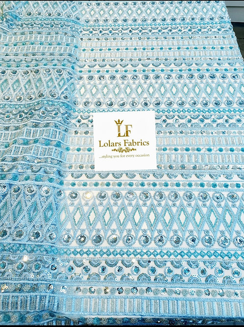 All Glam Baby Blue Bridal Lace