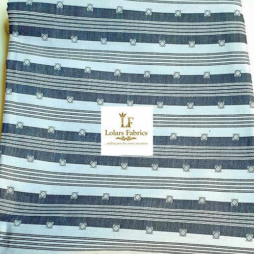 Afolabi Black and White Pattern Swiss Maurice Men's fabric