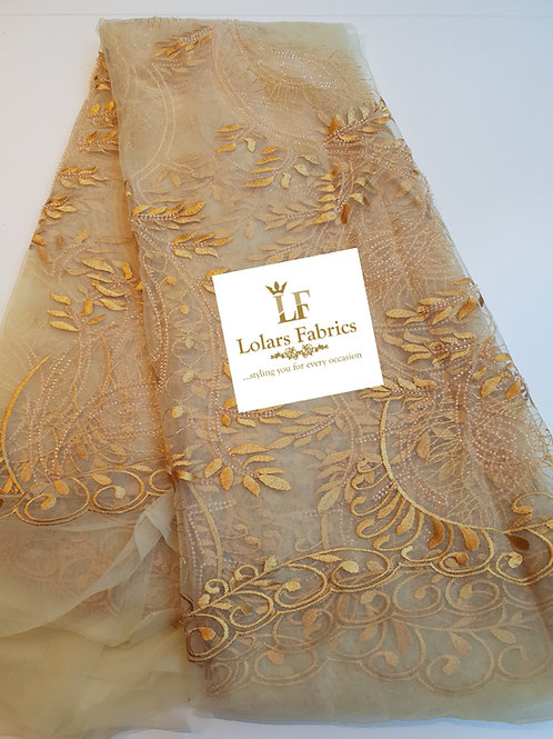 Sugar Tree Gold Embroidered Lace