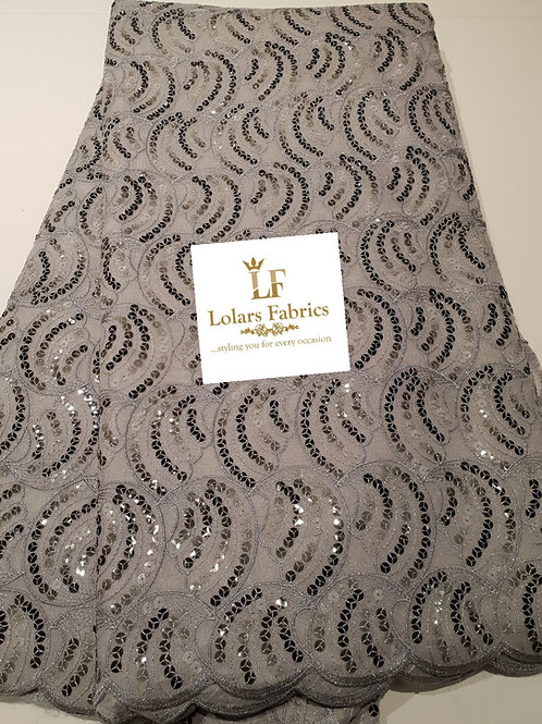 Ace Silver Gray Sequinned lace