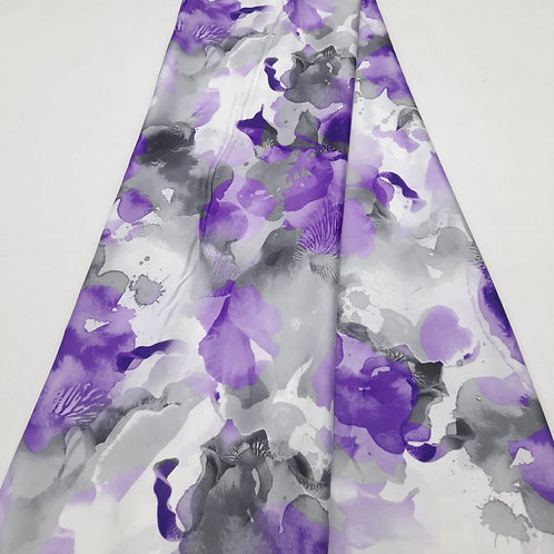 Lavender Italian silk fabric
