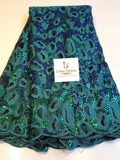 Callista Iridescent green fabric