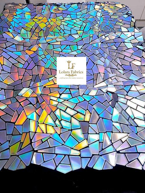 Glam Mirror Silver irridescent fabric