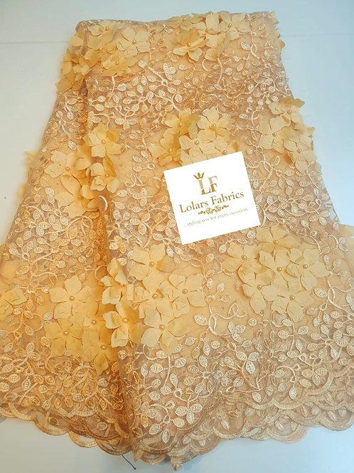 Dara Summer bloom Yellow 3d lace
