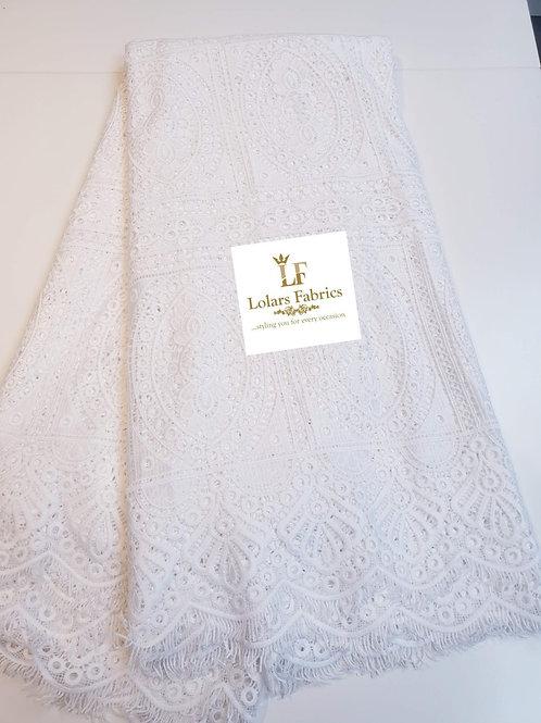 Bukola White soft guipure lace