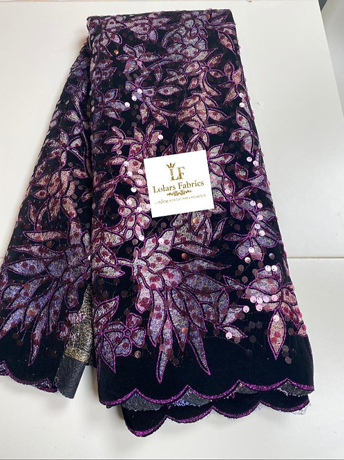 Temitope Pink tones handcut velvet flocking lace fabric