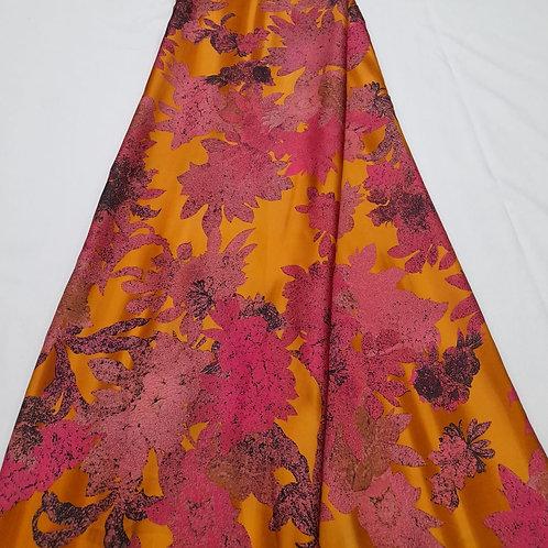 Autumn love Italian Silk Fabric