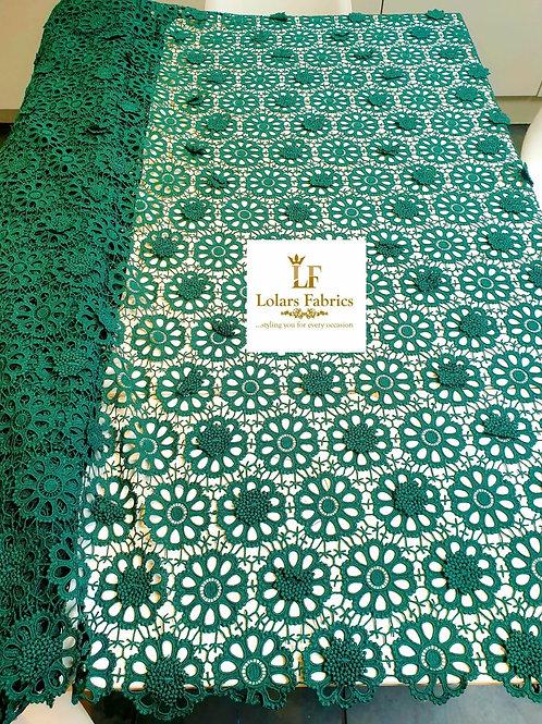 Bosco delightful Green 3D soft cord lace