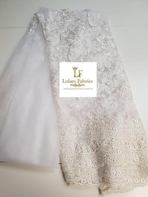 Bridal White 3D Lace